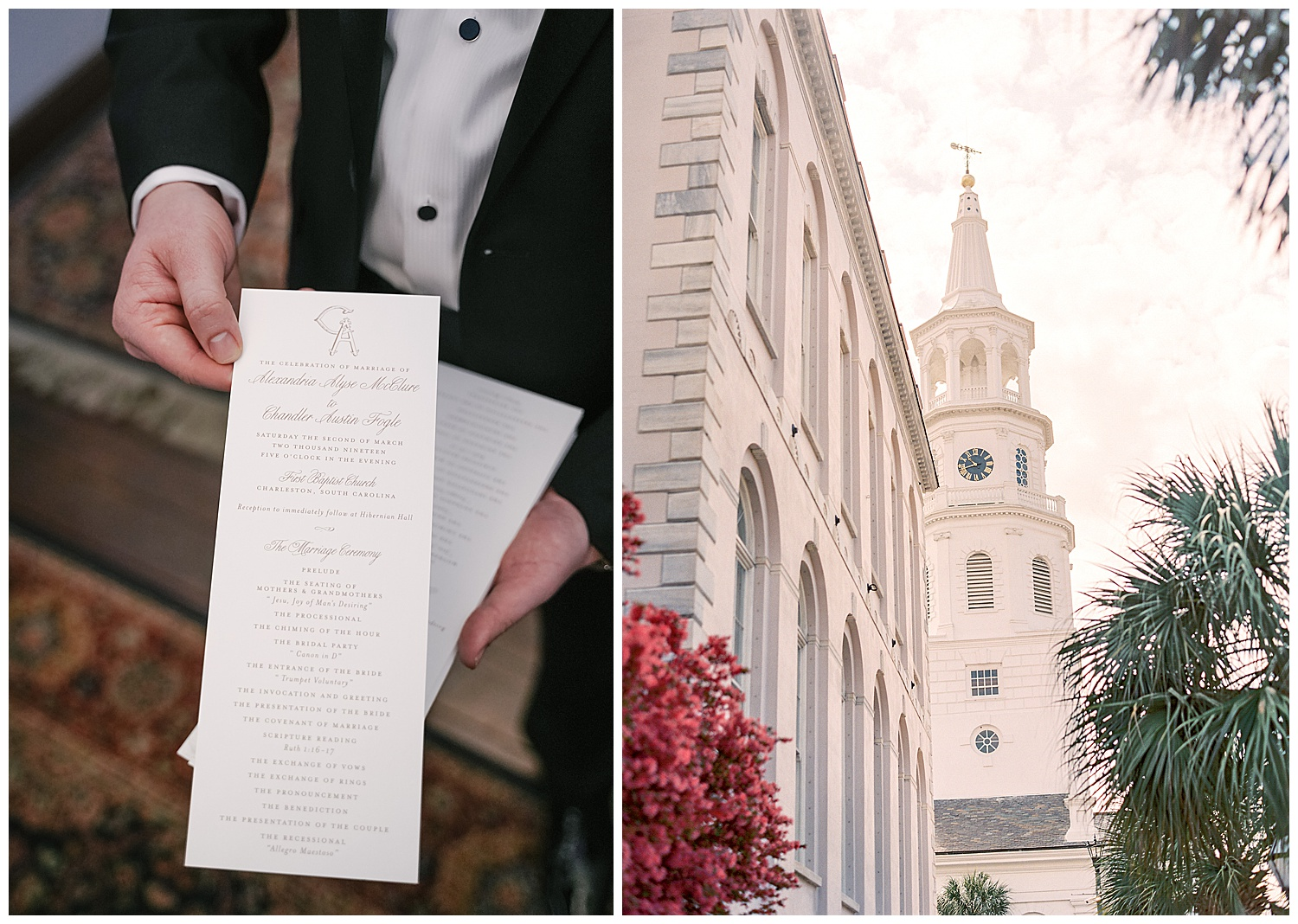 The Wedding Row | Alex and Chandler | Hibernian Hall | Charleston
