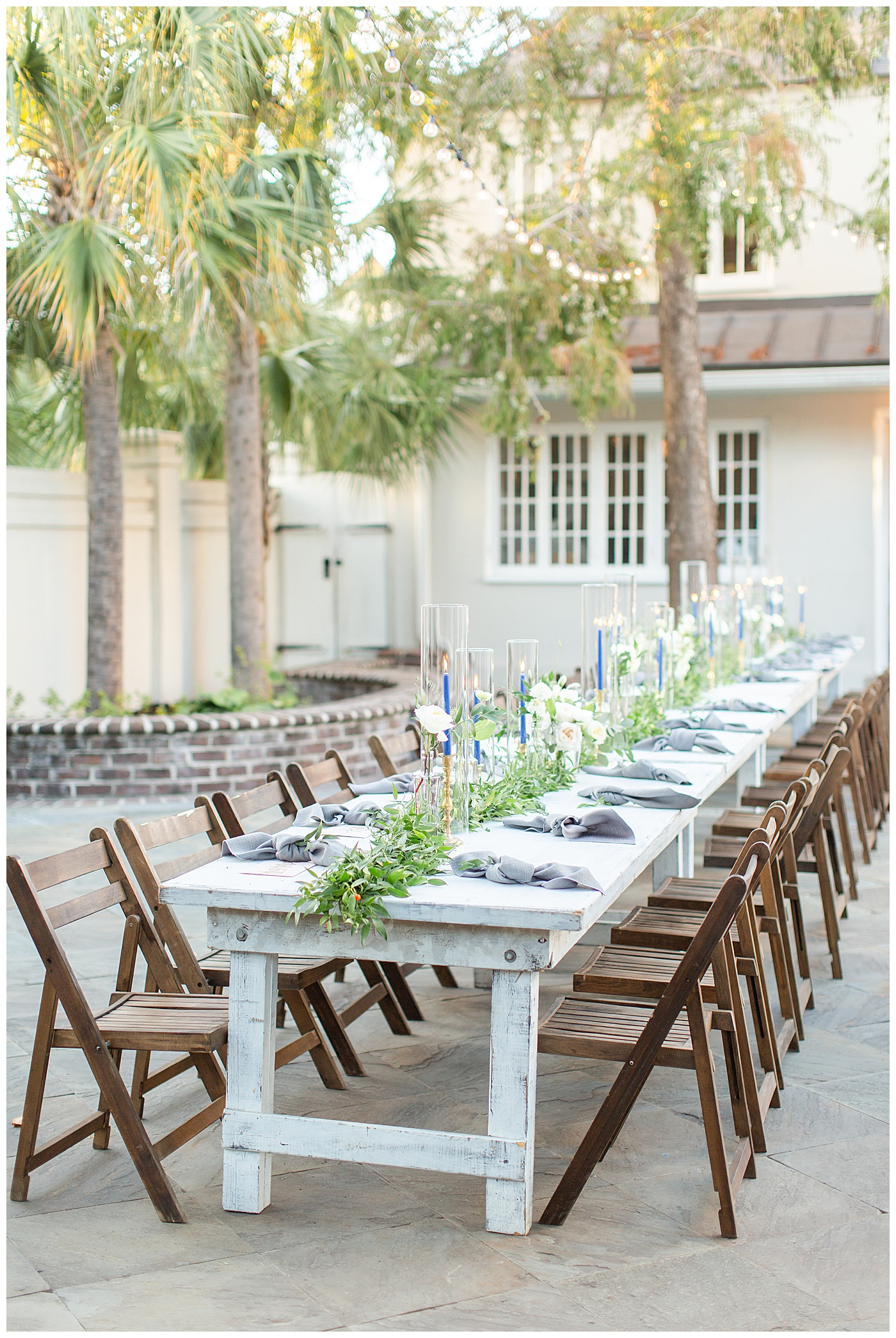 wedding reception table charleston