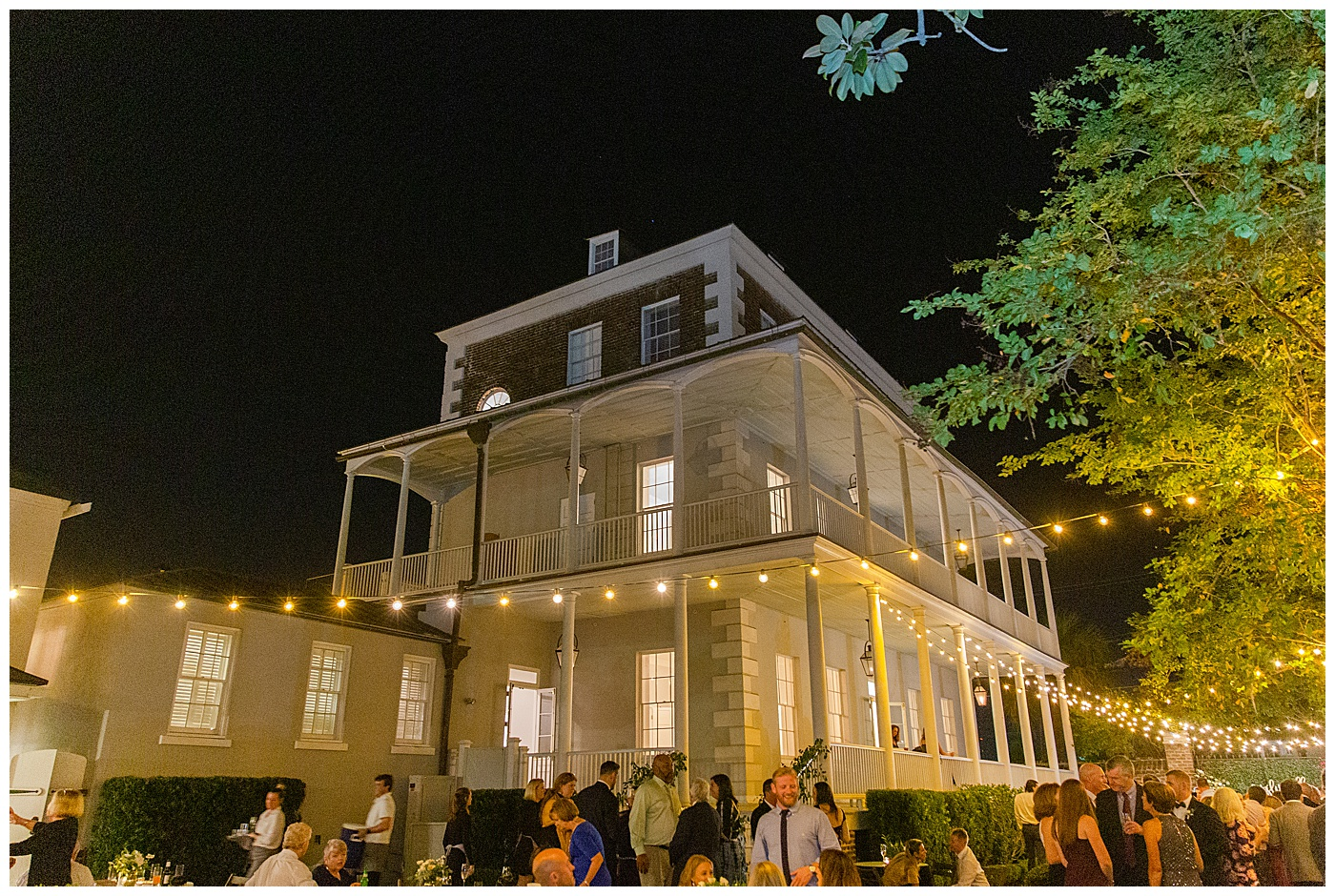 wedding reception at the gadsden house in charleston south carolina