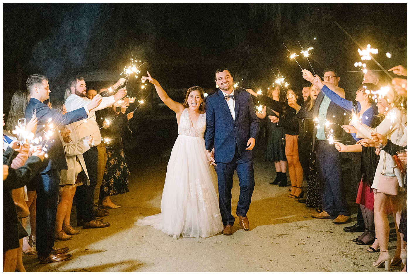sparkler exit at middleton place in charleston