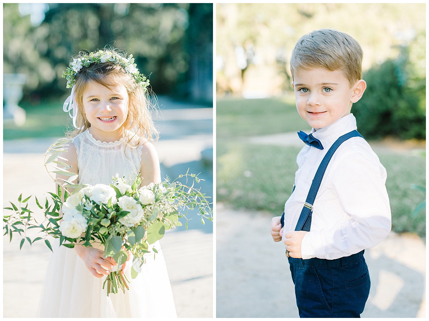 flower girl and ring bearer in charleston