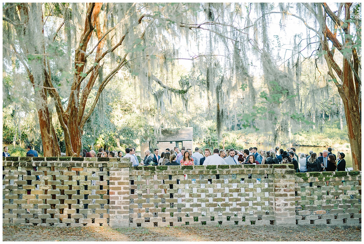 cocktail hour at middleton place in charleston south carolina