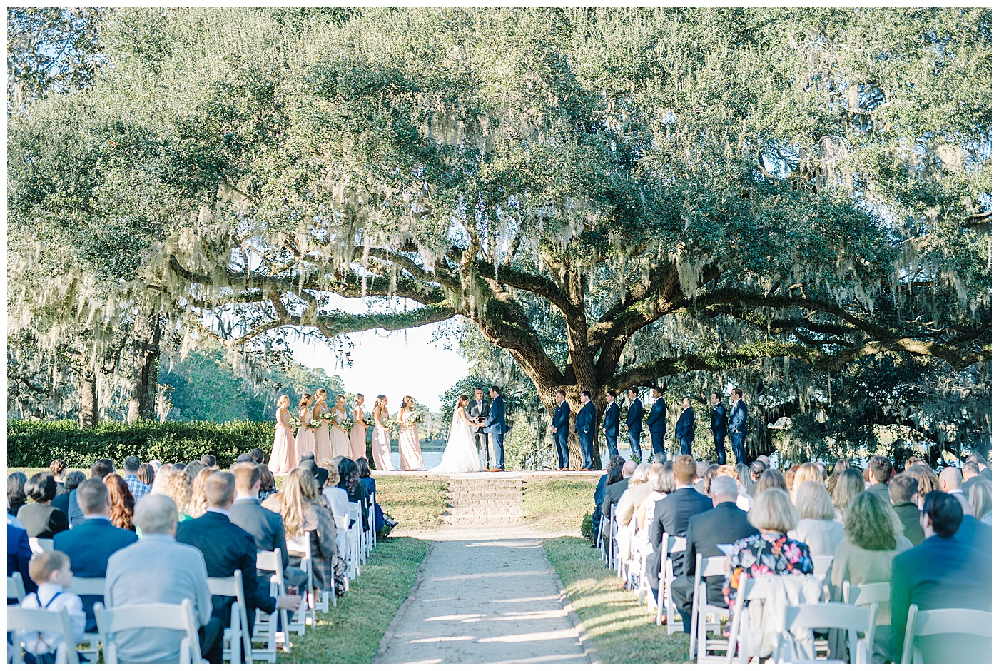 charleston outdoor wedding ceremony