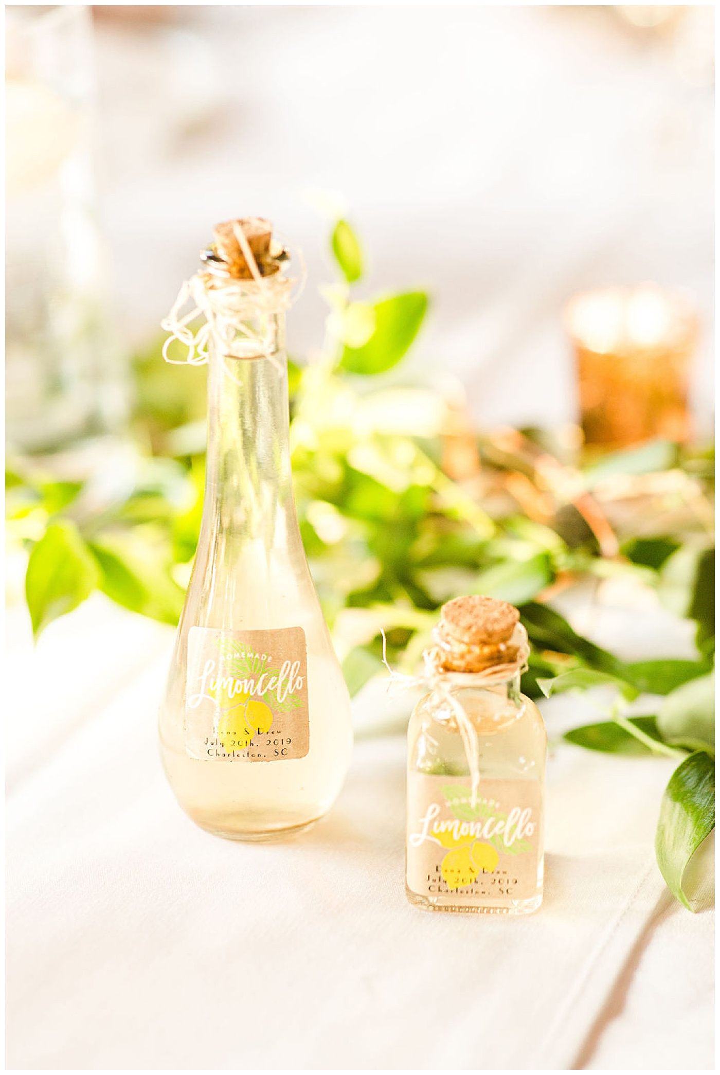 personalized limoncello for wedding