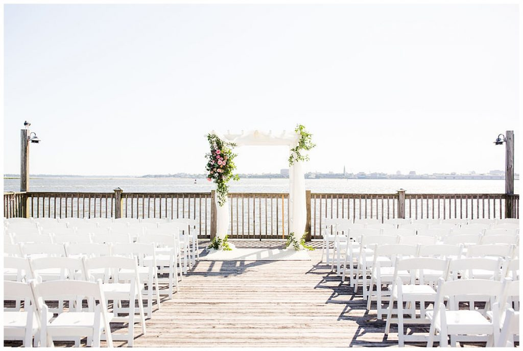 waterside wedding at charleston harbor resort