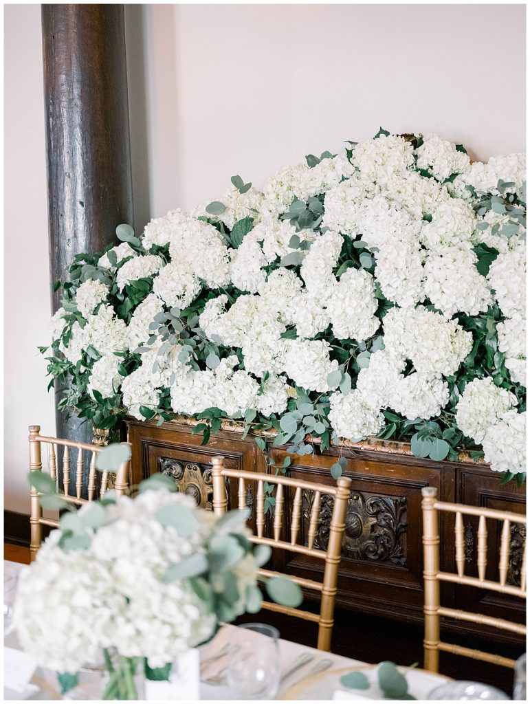wedding reception florals