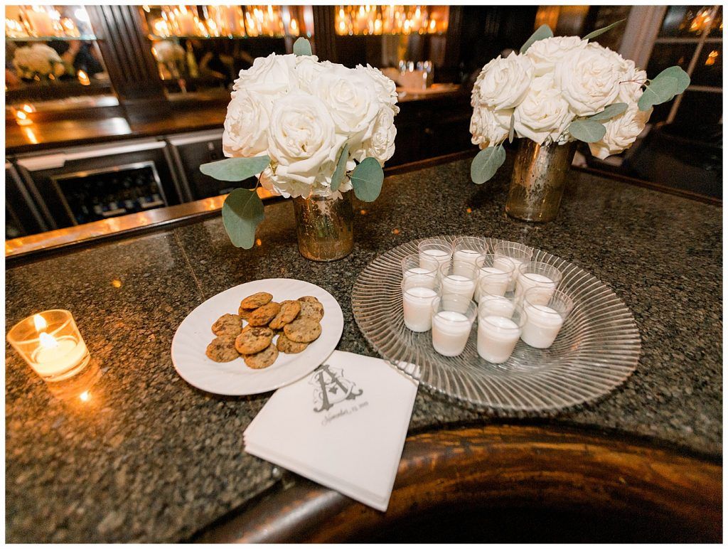 milk and cookies wedding reception