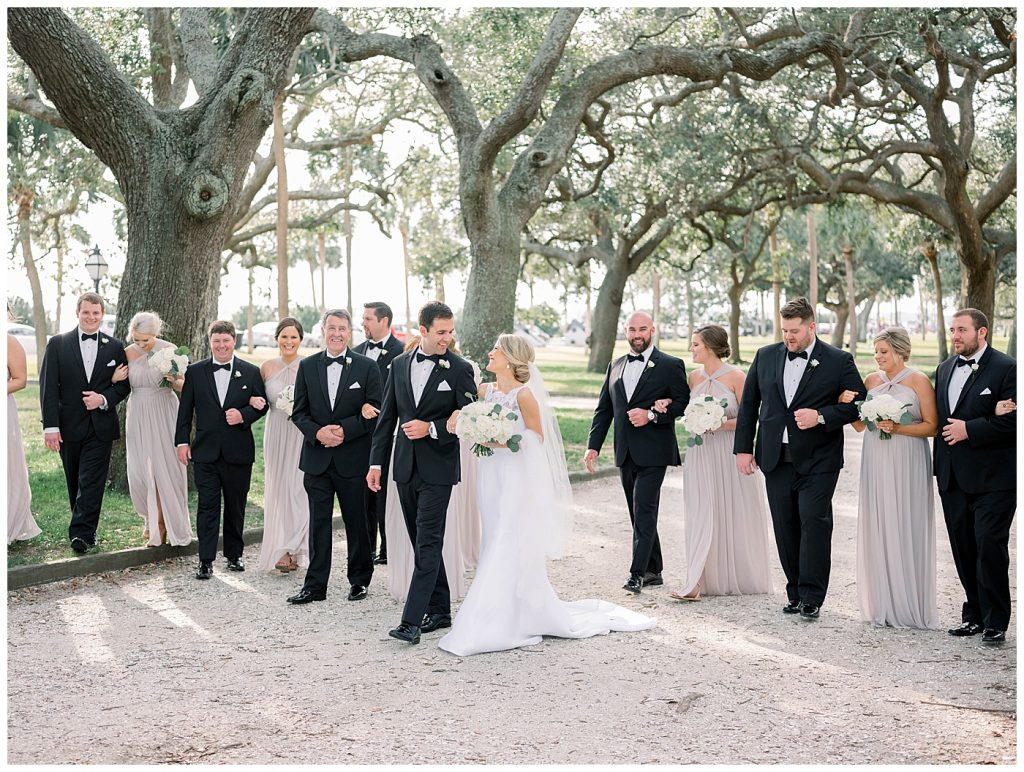 bridal party in charleston