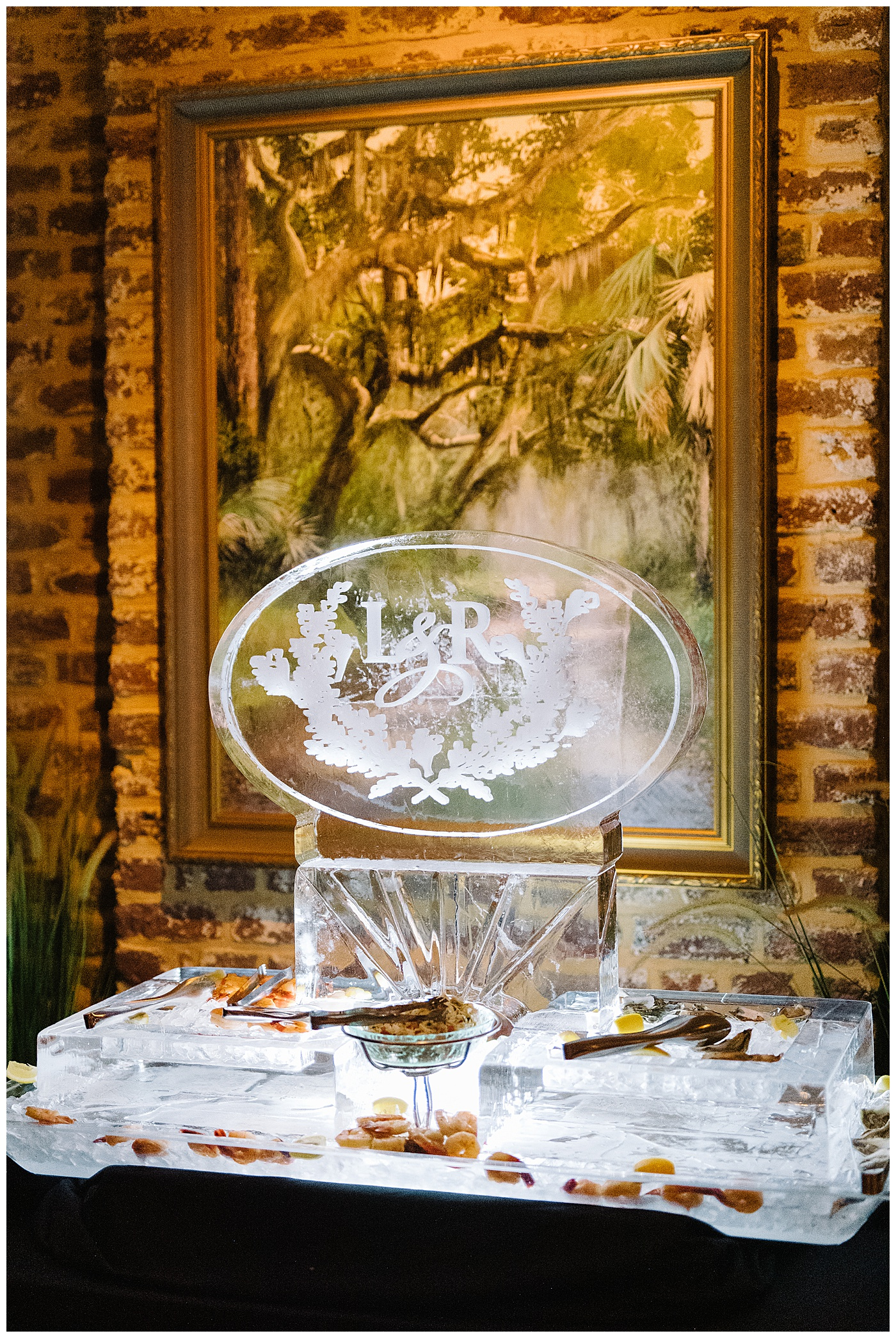 wedding ice sculpture rehearsal dinner